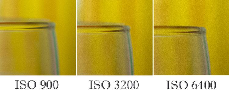 ISO 900, ISO 3200, ISO 6400 Nikon d610